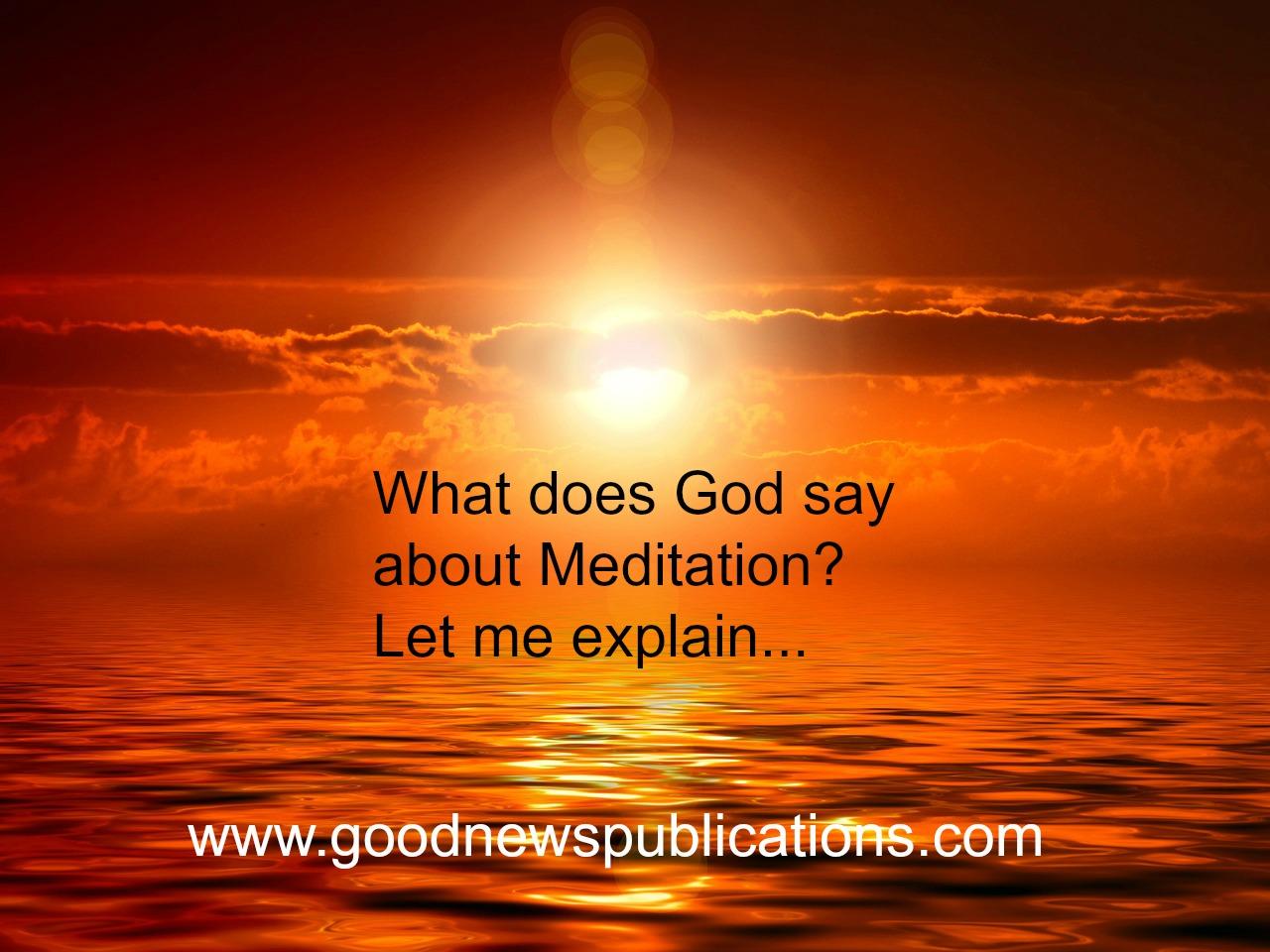 Meditation and God Class - My CMS